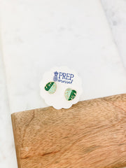Tropical Palm Leaf Signature Enamel Studs by Prep Obsessed