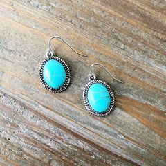 Tucson Turquoise Drop Earring