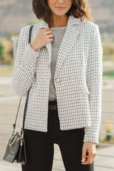 Tweedle Dee-lightful Tweed Blazer In Ivory (Ships in 1-2 Weeks)