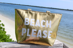 'Beach Please' Insulated Cooler Tote