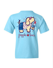 Youth USA Popsicle Pup Short Sleeve by Puppie Love