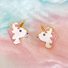'Unicorn Vibes Only' Enamel Unicorn Studs