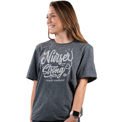 'Nurse Strong' Vintage Short Sleeve Tee by Simply Southern