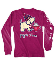 'Hot Cocoa Pup' Long Sleeve Tee by Puppie Love