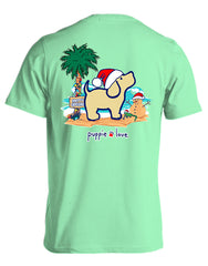 'Beach Christmas Pup' Short Sleeve Tee by Puppie Love