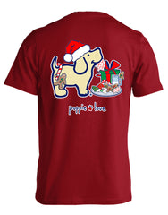 'Christmas Cookies Pup' Short Sleeve Tee by Puppie Love