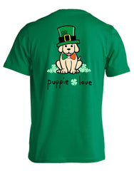'Top Hat Irish Pup' Short Sleeve Tee by Puppie Love