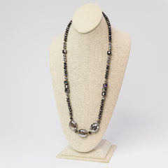 Final Sale: Elise Glitzy Long Beaded Necklace- Multiple Colors Available
