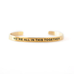 'We're All In This Together' Cuff Bracelet by Lillian & Co.