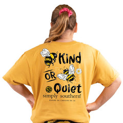 Youth 'Bee Kind or Bee Quiet' Short Sleeve Tee by Simply Southern