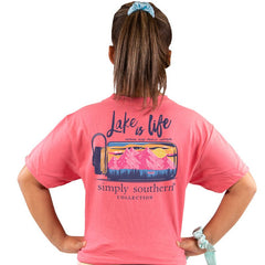 Youth 'Lake is Life' Short Sleeve Tee by Simply Southern