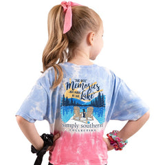 Youth 'Best Memories Are Made At The Lake' Tie Dye Short Sleeve Tee by Simply Southern