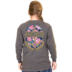Youth 'God is My Anchor' Long Sleeve Tee by Simply Southern
