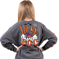 Youth 'Hey Boo' Ghosts Long Sleeve Tee by Simply Southern