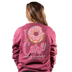 Youth 'I Donut Care' Long Sleeve Tee by Simply Southern