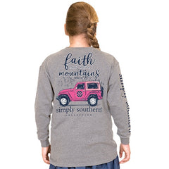 Youth 'Faith Can Move Mountains' Long Sleeve Tee by Simply Southern