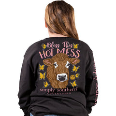 Youth 'Bless This Hot Mess' Long Sleeve Tee by Simply Southern