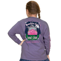 Youth 'Mountain Hair Don't Care' Long Sleeve Tee by Simply Southern