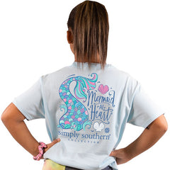 Youth 'Mermaid at Heart' Short Sleeve Tee by Simply Southern