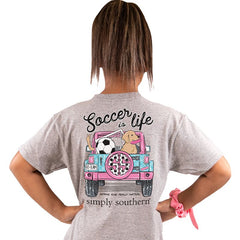 Youth 'Soccer is Life' Short Sleeve Tee by Simply Southern