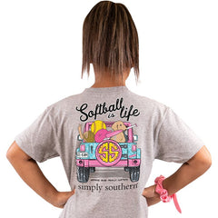 Youth 'Softball is Life' Short Sleeve Tee by Simply Southern