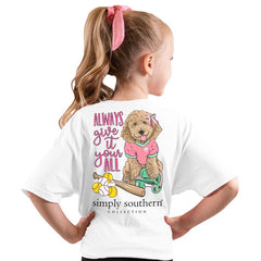 Youth 'Always Give It Your All' Softball Pup Short Sleeve by Simply Southern