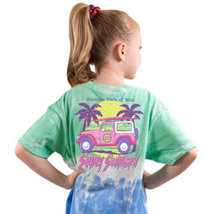 Youth 'Sunshine State of Mind' Tie Dye Short Sleeve Tee by Simply Southern