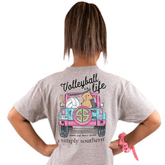 Youth 'Volleyball is Life' Short Sleeve Tee by Simply Southern