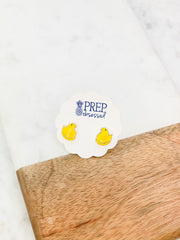 Yellow Chick Signature Enamel Studs by Prep Obsessed