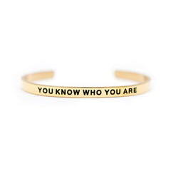 'You Know Who You Are' Cuff Bracelet by Lillian & Co.