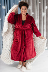 You Time Robe in Burgundy (Ships in 1-2 Weeks)