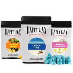 Happy Wax Soy Melts Beach Bear Collection 3 Pack