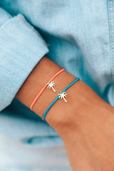 Gold Palm Tree Charm Bracelet by Pura Vida - 2 Colors Available