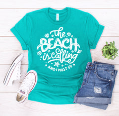 'The Beach is Calling' Signature Graphic Tee (Ships in 2 Weeks)
