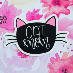 'Cat Mom' Vinyl Decal Sticker