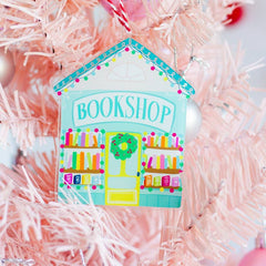 Bookshop Christmas Ornament