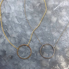 Petite Open Circle Necklace - Choice of Colors