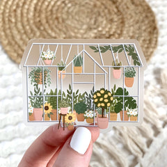 Clear Greenhouse Sticker