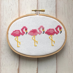 'Pink Flamingos' Cross Stitch Kit