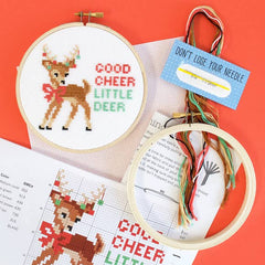 'Good Cheer Little Deer' Cross Stitch Kit