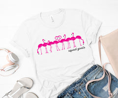 'Squad Goals' Flamingo Signature Graphic Short Sleeve Tee by Prep Obsessed