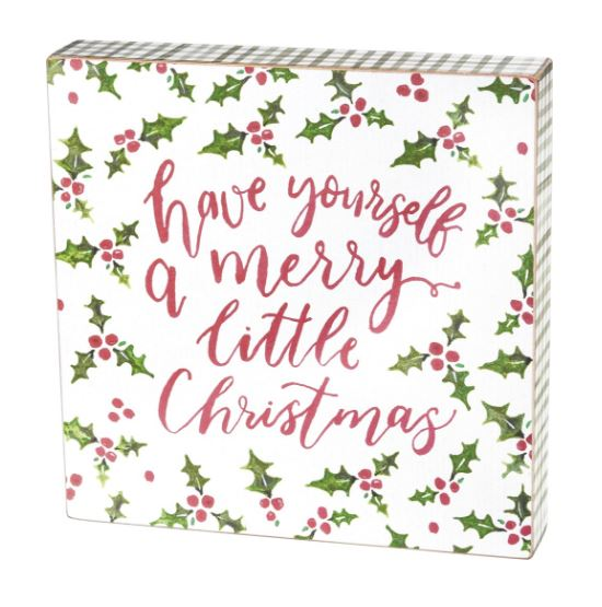 have yourself a merry little christmas box sign by pbk