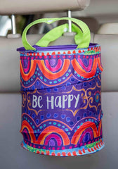 'Be Happy' Pop Up Car Trash Bin