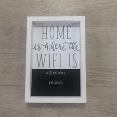 'Home Is Where The Wifi Is' Chalk Board Plaque by Mud Pie