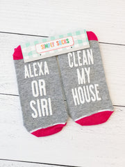 'Clean My House' Non-Slip Socks by Simply Southern