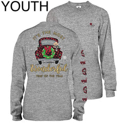 Youth 'Most Wonderful Time of Year' Holiday Long Sleeve Tee by Simply Southern