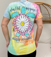 'Don't Let Anyone Dull Your Sunshine' Tie Dye Short Sleeve Tee by Simply Southern