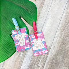 Palm Trees Luggage Tag Set by Simply Southern