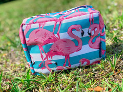 Flamingo Print Cosmetic Bag by Simply Southern
