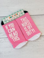 'This Nurse Is Off Duty' Non-Slip Socks by Simply Southern